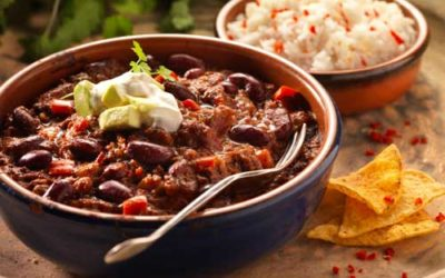 Minced beef chilli con carne – February staff recipe of the month